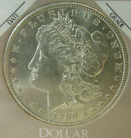 BU 1886 S MORGAN SILVER DOLLAR SAN FRANCISCO UNC C3