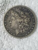 1882 P AU TONED MORGAN SILVER DOLLAR 90 SILVER COIN ABOUT UNCIRCULATED $1