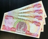 100 000 IRAQI CURRENCY IQD   4  25 000 IRAQ DINAR NOTES   AUTHENTIC   FAST SHIP