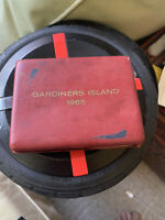 VINTAGE 1965 GARDINERS ISLAND NICKEL SILVER 3 COIN PROOF SET PRESENTATION CASE