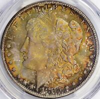 1883-CC MORGAN SILVER DOLLAR - PCGS MINT STATE 65, OGH - TONED OBV BEAUTY, ANTIQUED REV.