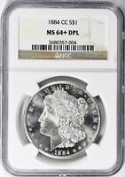 1884-CC MORGAN SILVER DOLLAR - NGC MINT STATE 64 DPL - OMG, AN ABSOLUTELY GORGEOUS COIN
