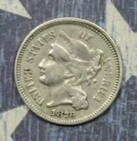 1876 THREE CENT NICKEL COLLECTOR COIN SHIPS FREE