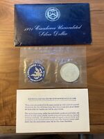 4 1971-S UNCIRCULATED 40 SILVER EISENHOWER DOLLAR COIN WITH BLUE ENVELOPE
