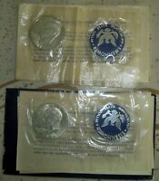 TWO- 1971 S EISENHOWER IKE 40 SILVER DOLLARS UNCIRCULATED