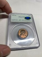 1921 PCGS MINT STATE 65RB CAC OGH RATTLER WHEAT CENT TONED TONING 0983