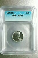 1943-S LINCOLN STEEL PENNY ICG MINT STATE 67