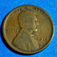 1918 P LINCOLN CENT WHEAT PENNIES 95 COPPER CIRCULATED A-5