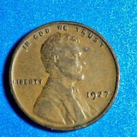 1927 P LINCOLN CENT WHEAT PENNIES 95 COPPER CIRCULATED A-6