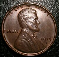 OLD US COINS UNCIRCULATED 1919 S ERROR LINCOLN WHEAT ONE CENT PENNY BU UNC 1 C