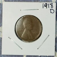 1918-D WHEAT CENT COLLECTOR COIN SHIPS FREE