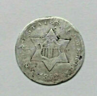 MUST SEE  1852 SILVER 3 THREE CENT PIECE --MUST SEE