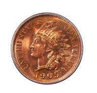1905 1C ICG MINT STATE 63 RED   UNCIRCULATED INDIAN CENT