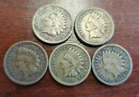 1859 1860  1861  1862  1863  INDIAN HEAD PENNY LOT