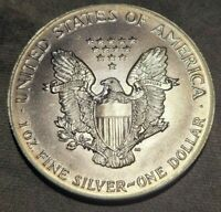 1987 AMERICAN SILVER EAGLE ASE LIGHTLY TONED REVERSE