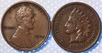 1909 INDIAN CENT AND 1909 LINCOLN, FIRST AND LAST YEARS OF MINTAGE