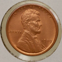 1909 P LINCOLN WHEAT CENT - RED GEM BU / MS RD / UNC
