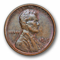 1919 S LINCOLN WHEAT CENT UNCIRCULATED MINT STATE BROWN BN US COIN 4594