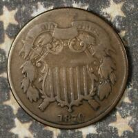 1870 2 CENT PIECE COPPER COLLECTOR COIN SHIPS FREE