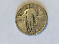 1927-S STANDING LIBERTY QUARTER - STRONG VG -  ORIGINAL COLOR - UNCLEANED