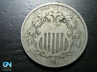 1868 SHIELD NICKEL  --  MAKE US AN OFFER  B9749