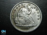 1838 P SEATED LIBERTY HALF DIME --  MAKE US AN OFFER  B9783