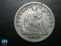 1857 P SEATED LIBERTY HALF DIME --  MAKE US AN OFFER  B9784