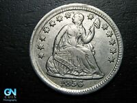 1856 P SEATED LIBERTY HALF DIME --  MAKE US AN OFFER  B9786