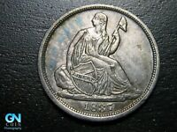 1837 P SEATED LIBERTY HALF DIME --  MAKE US AN OFFER  B9797