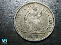 1871 S SEATED LIBERTY HALF DIME --  MAKE US AN OFFER  B9799