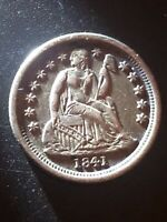1841-O SEATED LIBERTY DIME UNCERTIFIED COIN