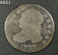 1827 CAPPED BUST DIME  FREE S/H AFTER 1ST ITEM
