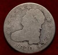 1820 PHILADELPHIA MINT SILVER CAPPED BUST QUARTER
