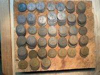 LOT OF 133 BRITISH PENNY COINS 1901 1967 CIRCULATED 37 DIFFE