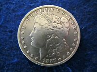 1887 O MORGAN SILVER DOLLAR - LIGHT GREY TONING - CLEANED AT SOME TIME    READ