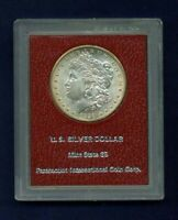 U.S. 1898-O MORGAN SILVER DOLLAR, GEM UNCIRCULATED, OLD RED PARAMOUNT HOLDER