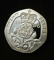 1996 STERLING SILVER PROOF 20P COIN   FROM THE SILVER ANIVER