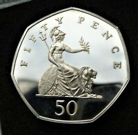 1996 STERLING SILVER PROOF 50P COIN   FROM THE SILVER ANIVER
