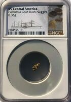 SS CENTRAL AMERICA SSCA SHIPWRECK .36 GRAM GOLD  NUGGET FROM 2ND RECOVERY