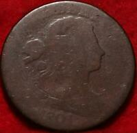 1801 PHILADELPHIA MINT COPPER DRAPED BUST LARGE CENT