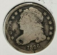 1836-P CAPPED BUST DIME