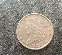 1834 U.S. HALF CENT ALMOST UNCIRCULATED
