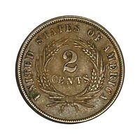 US 1864 TWO CENT COPPER COIN   YOU GRADE