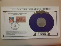 1883 MORGAN DOLLAR & COMMEM STAMP US SILVER DOLLAR COLLECTION . VOLUME DISCOUNTS