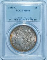 1881 O PCGS MINT STATE 64 MORGAN SILVER DOLLAR