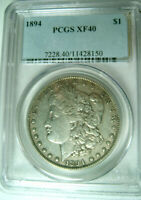 1894 MORGAN SILVER DOLLARPCGS EXTRA FINE40 KEY DATELOW 110,000 MINTED