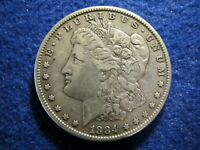 1884 MORGAN SILVER DOLLAR - MOSTLY LIGHT LY TONED ABOUT EXTRA FINE   READ