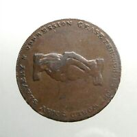 1795 LARGE COPPER HALF PENNY ____CONDER TOKEN___ANTI SLAVERY___MIDDLESEX____DOVE