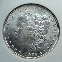 1904 UNITED STATES OF AMERICA SILVER MORGAN US DOLLAR COIN EAGLE NGC MS I78490