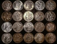 LOT OF 20   MIXED MORGAN SILVER DOLLARS US $1    PLEASE READ